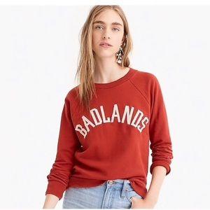 "J.Crew ""badlands"" sweatshirt size small"